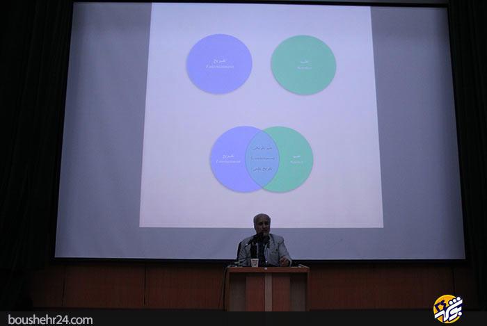 IMG05 گزارش تصویری؛سخنرانی استاد حسن عباسی با موضوع ایران ۱۴۱۴ در جهان ۲۰۳۵