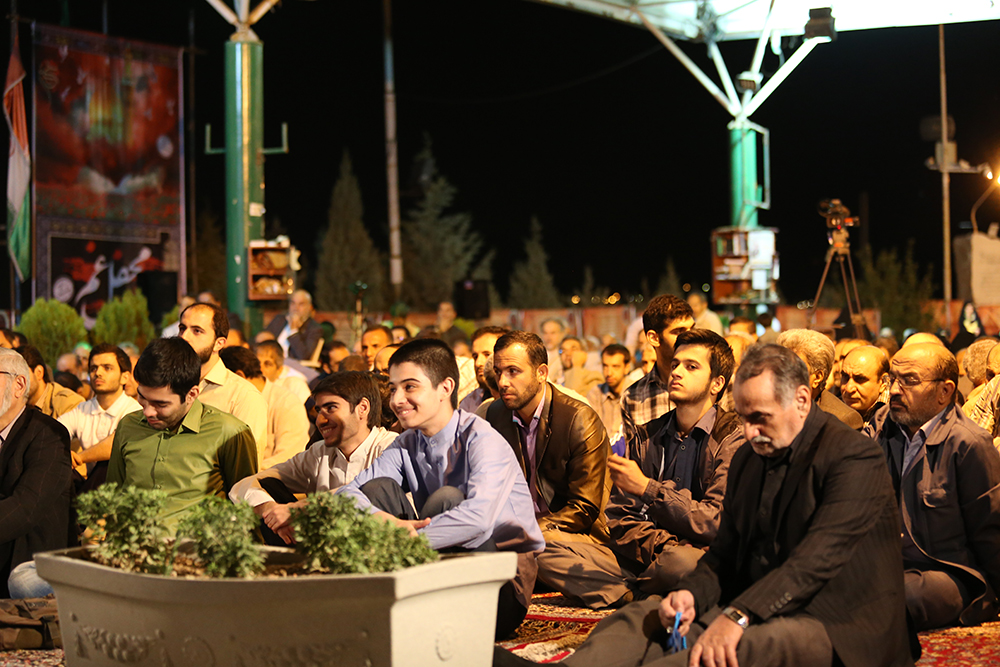 IMG 3579 گزارش تصویری؛ سخنرانی استاد حسن عباسی در مراسم بزرگداشت شهید حجتالاسلام حاج حسین اسکندری