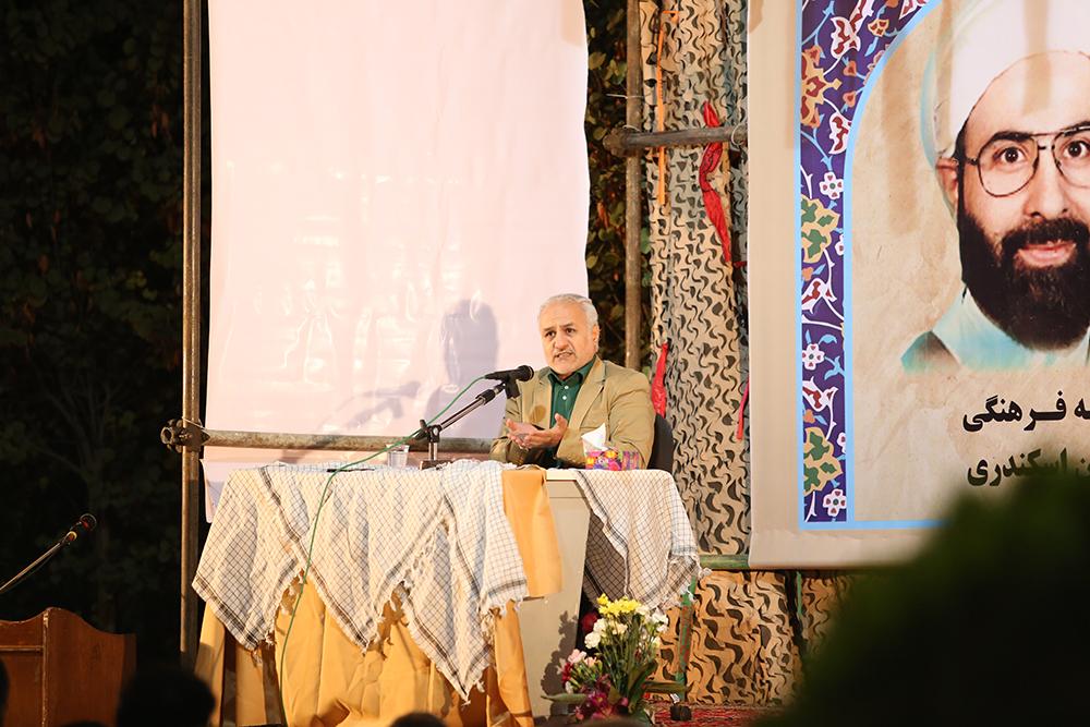 IMG 3599 گزارش تصویری؛ سخنرانی استاد حسن عباسی در مراسم بزرگداشت شهید حجتالاسلام حاج حسین اسکندری