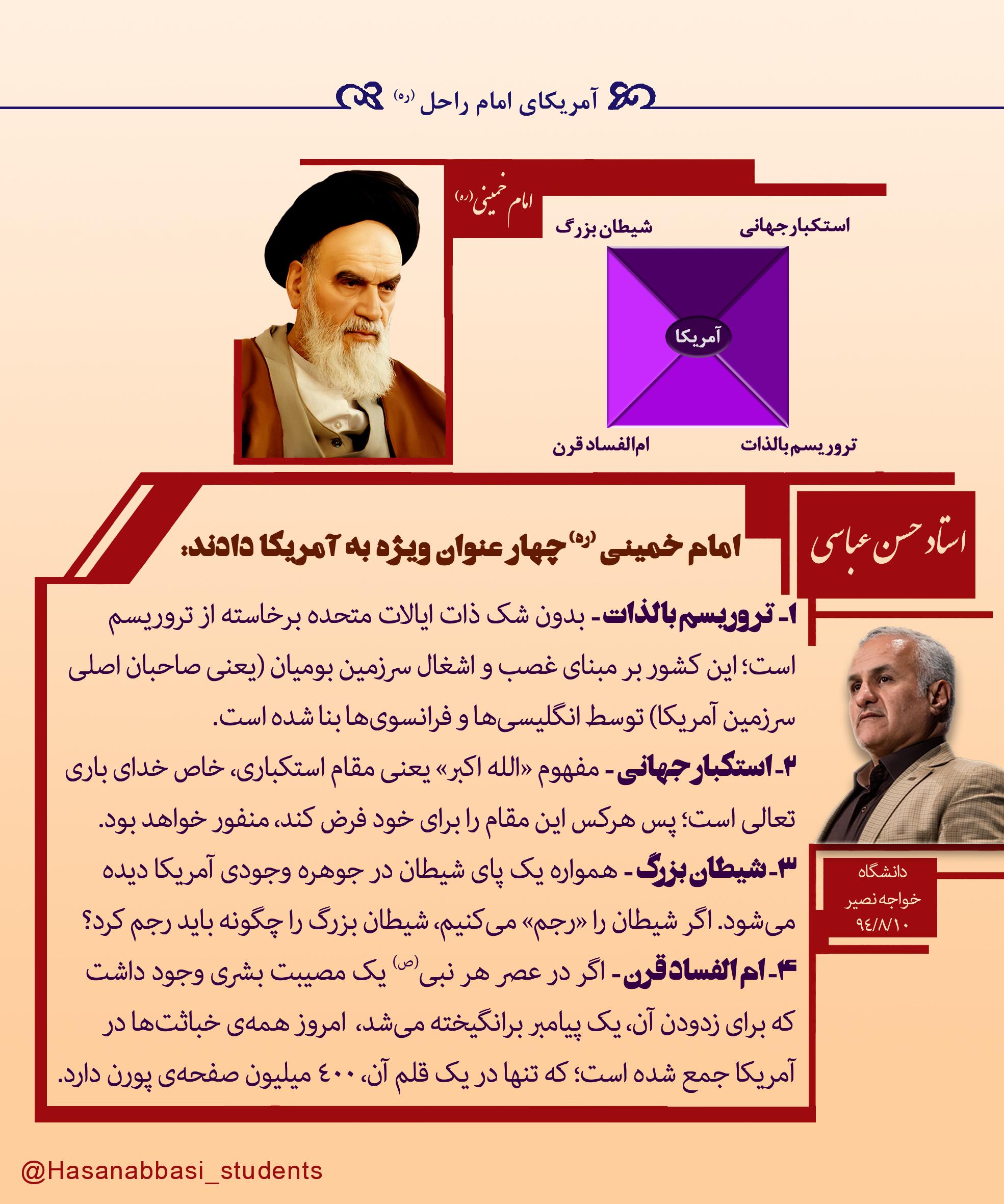 آمریکای امام خمینی – ویژهی یومالله ۱۳ آبان، روز ملی مبارزه با استکبار