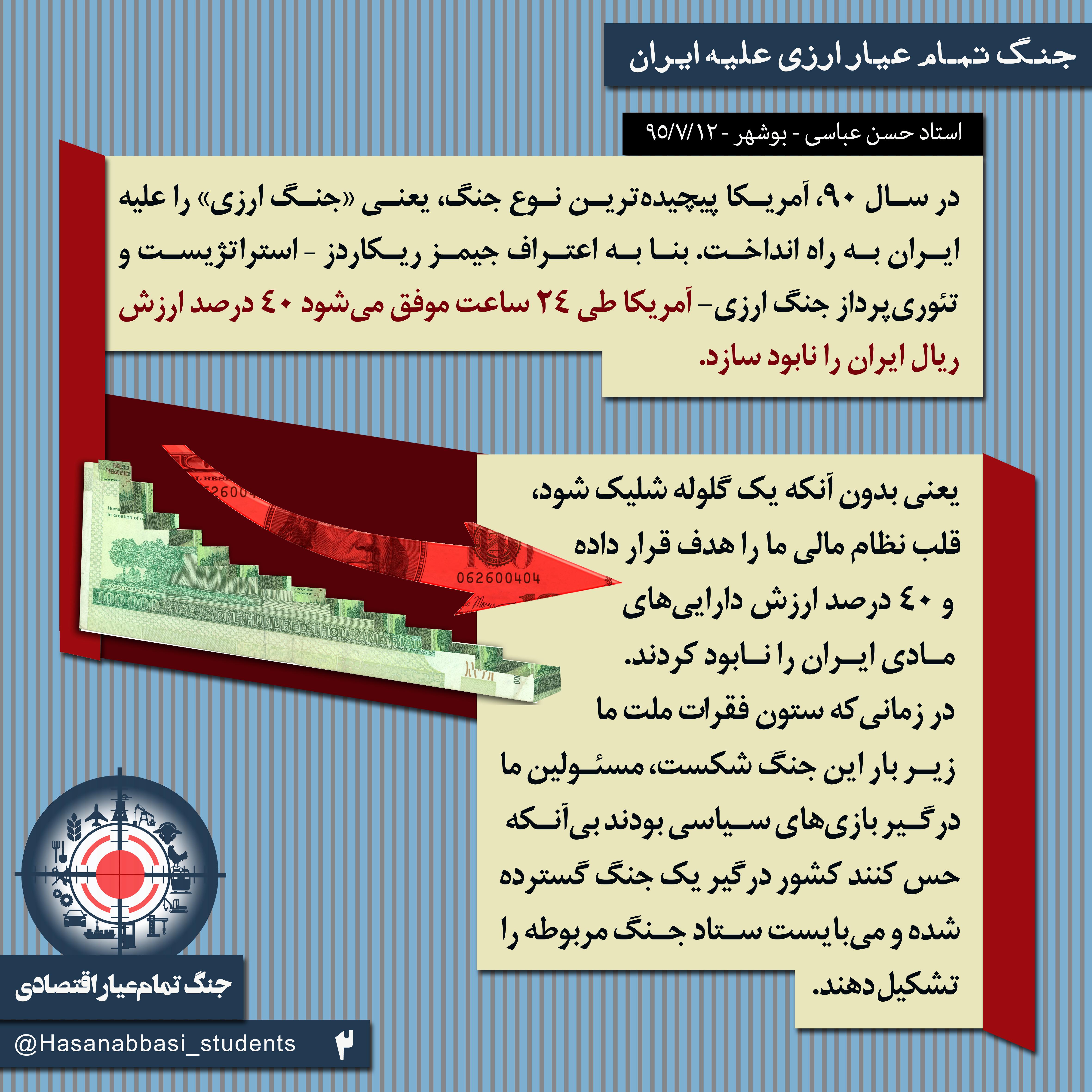 جنگ تمام عیار ارزی علیه ایران - جنگ تمام عیار اقتصادی - 2
