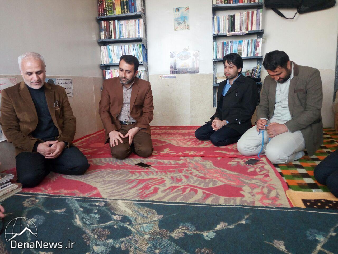 دیدار استاد حسن عباسی با استاد اخلاق حوزه علمیه؛ حجت الاسلام و مسلمین حق جو