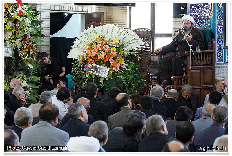 140194 785 حضور استاد حسن عباسی در مراسم ترحیم سردار شهید محمد ناظری