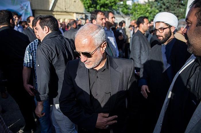 Image22384416 حضور استاد حسن عباسی در مراسم ترحیم سردار شهید محمد ناظری