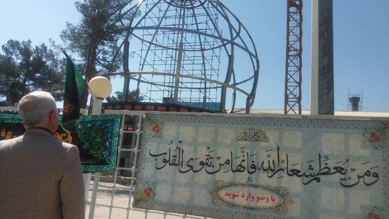 بازدید استاد حسن عباسی از روند ساخت گنبد امام حسین علیه السلام در کرمان