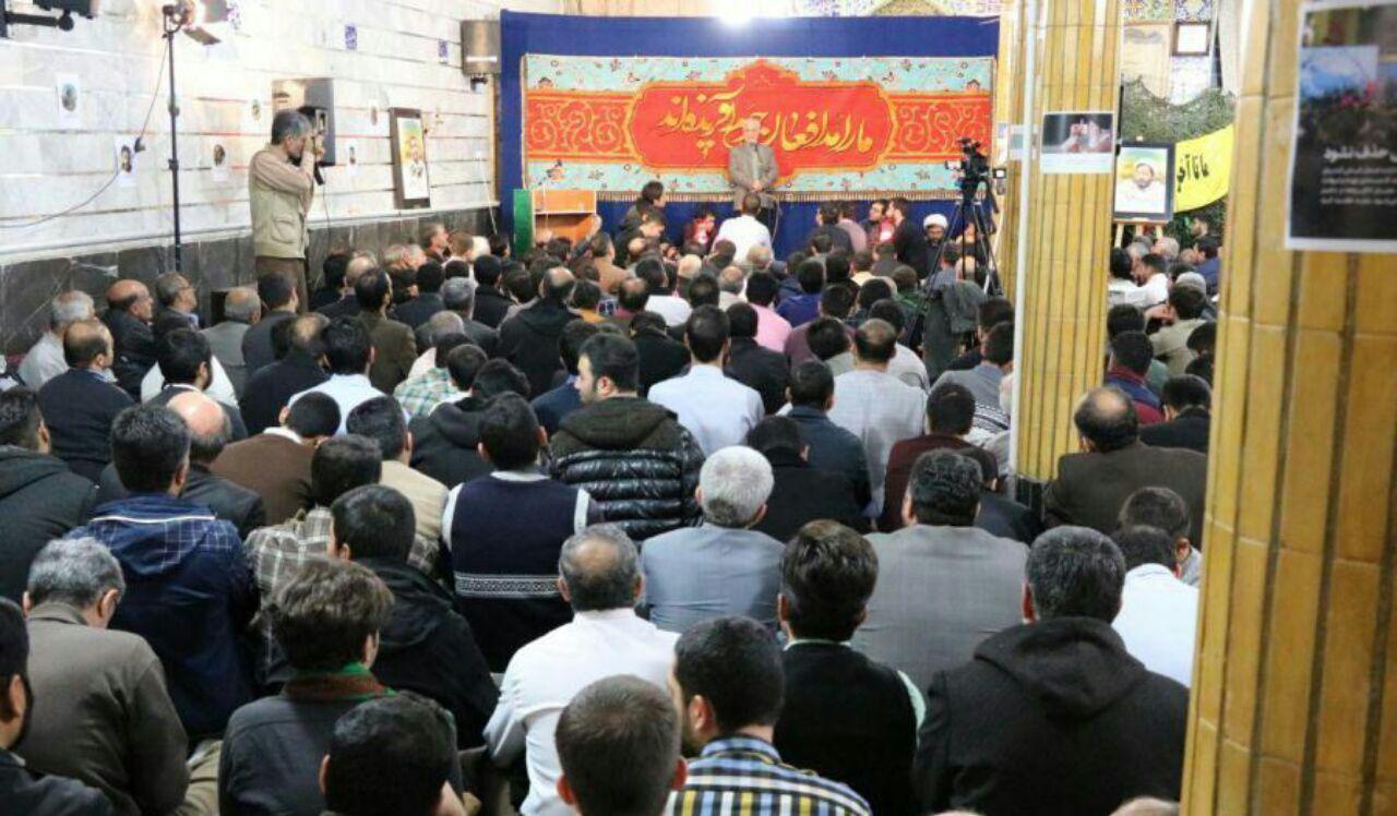 سخنرانی استاد حسن عباسی در دومین یادبود شهید مدافع حرم علی تمام زاده