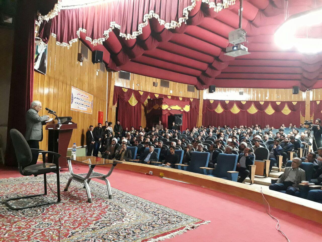 سخنرانی انقلابی استاد حسن عباسی در آب و هوای خنک و لطیف شهر صحنه استان کرمانشاه