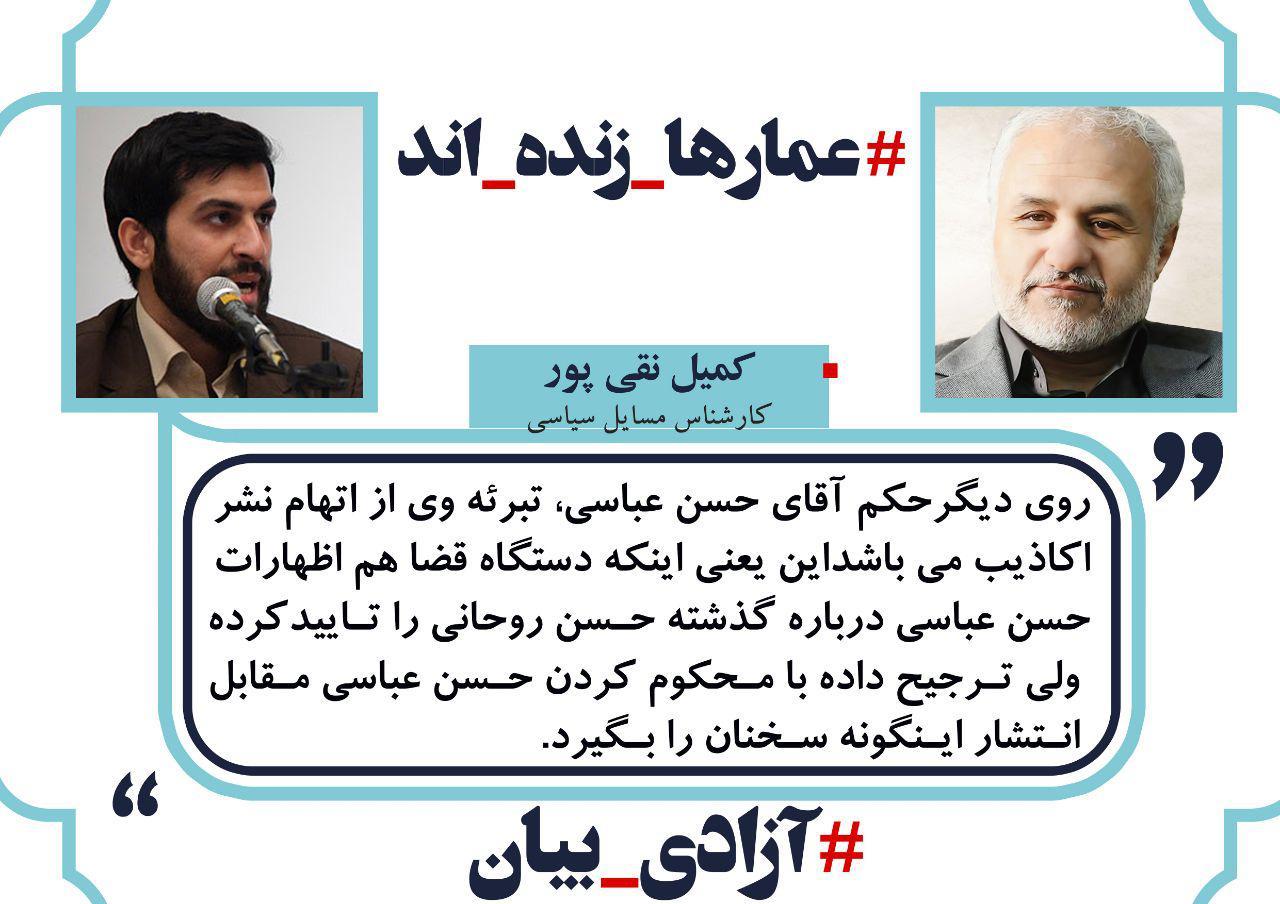 photo 04 17 مواضع جمعی از اهالی هنر و همچنين رسانه انقلاب در خصوص حکم حبس استاد حسن عباسی