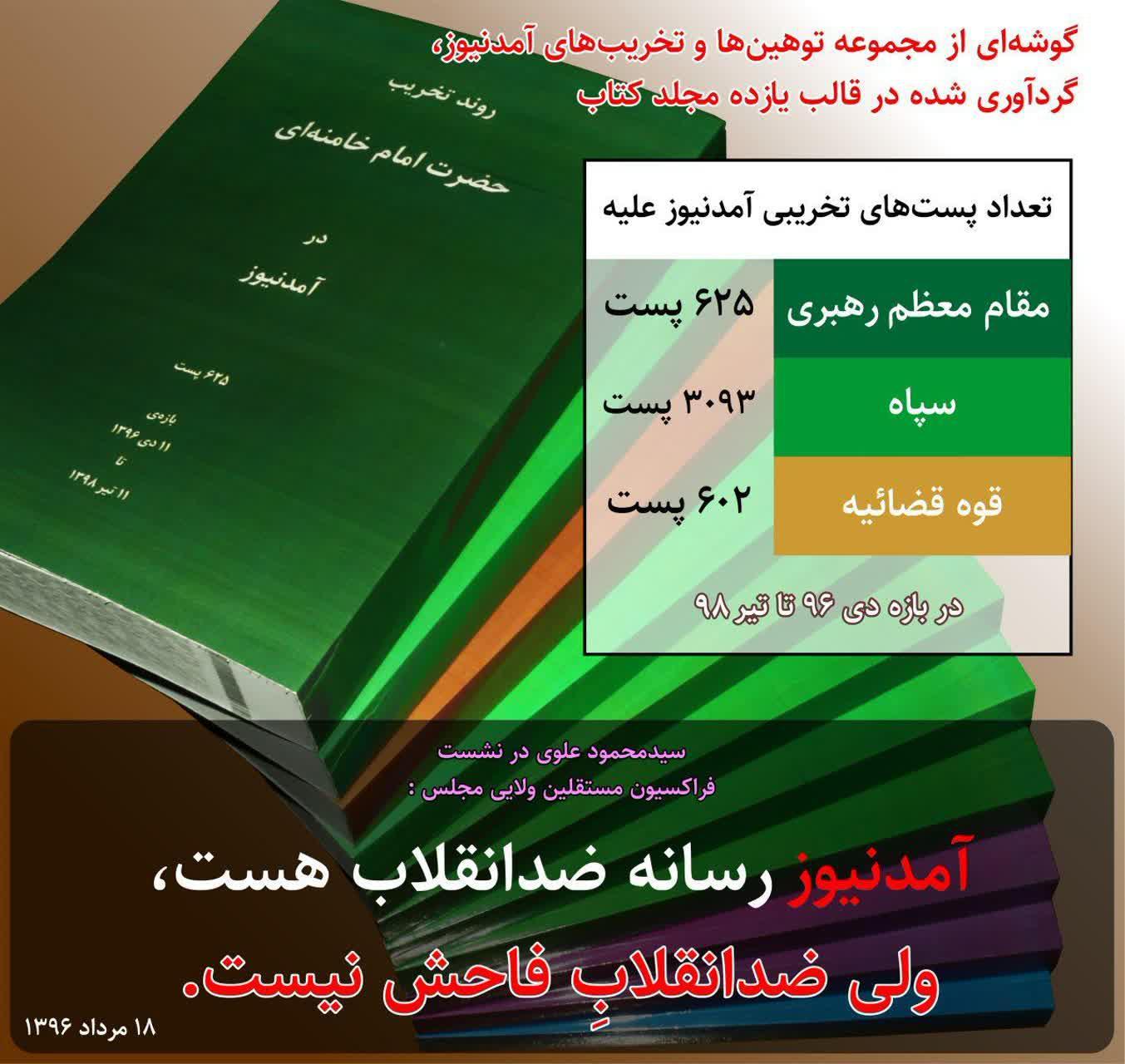 amadnews%20%286%29 شکایت وزیر اطلاعات از حسن عباسی به بهانه بیان ارتباط و رابطه آمدنیوز و همچنين وزیر اطلاعات + اسناد