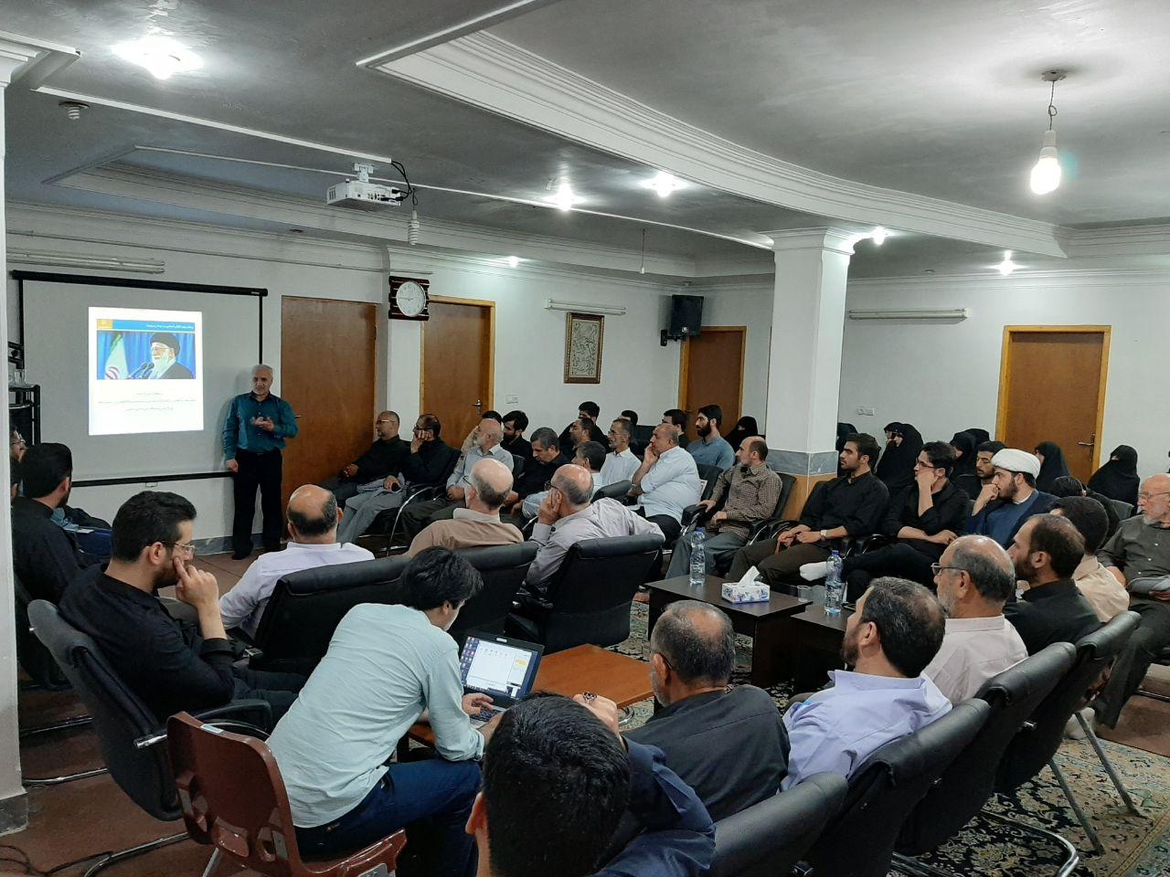 دیدار استاد حسن عباسی با امام جمعه لنگرود و سخنرانی در جلسه نخبگان فرهنگی