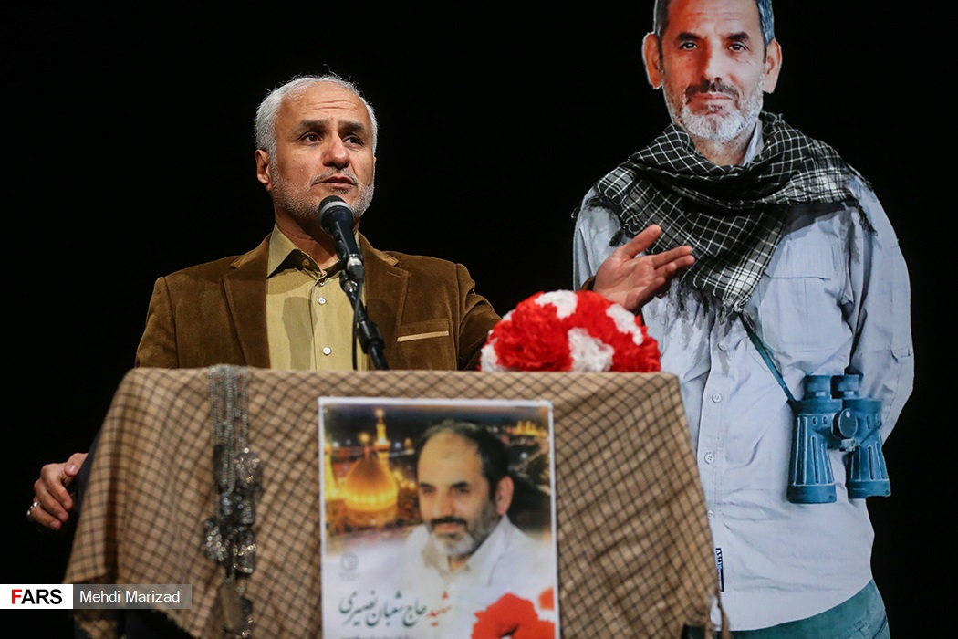 IMG 980327%20%2826%29 نقل از تصویری؛ سخنرانی استاد حسن عباسی در دومین سالگرد شهادت سردار شهید شعبان نصیری