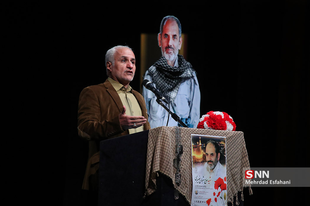 IMG 980327%20%284%29 نقل از تصویری؛ سخنرانی استاد حسن عباسی در دومین سالگرد شهادت سردار شهید شعبان نصیری